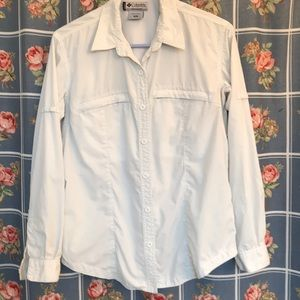 Columbia Woman's med.  long sleeve button up shirt